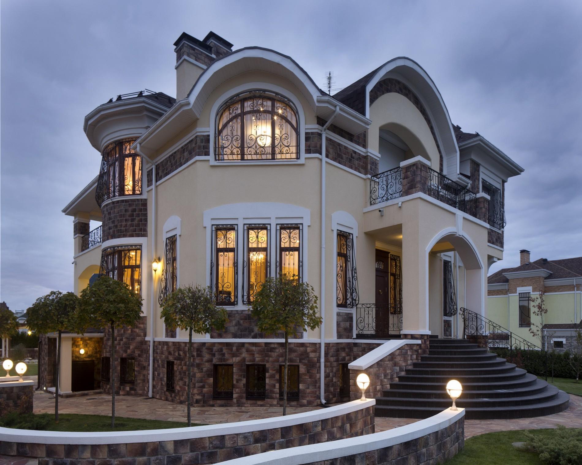Дизайн экстерьера загородного дома