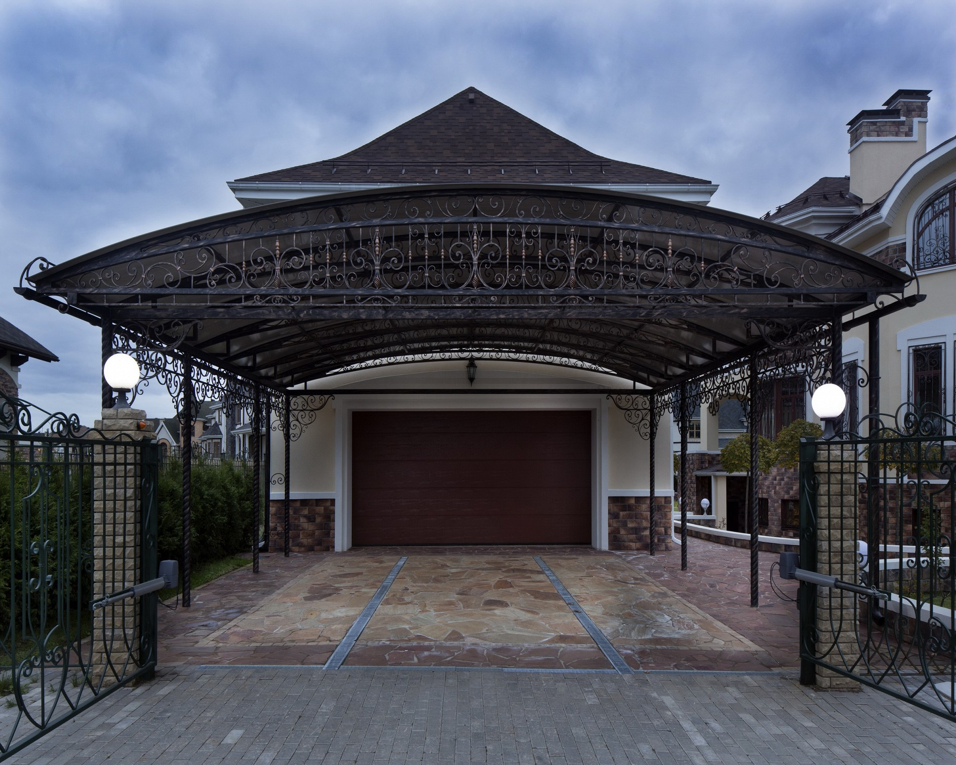 Дизайн экстерьера гаража