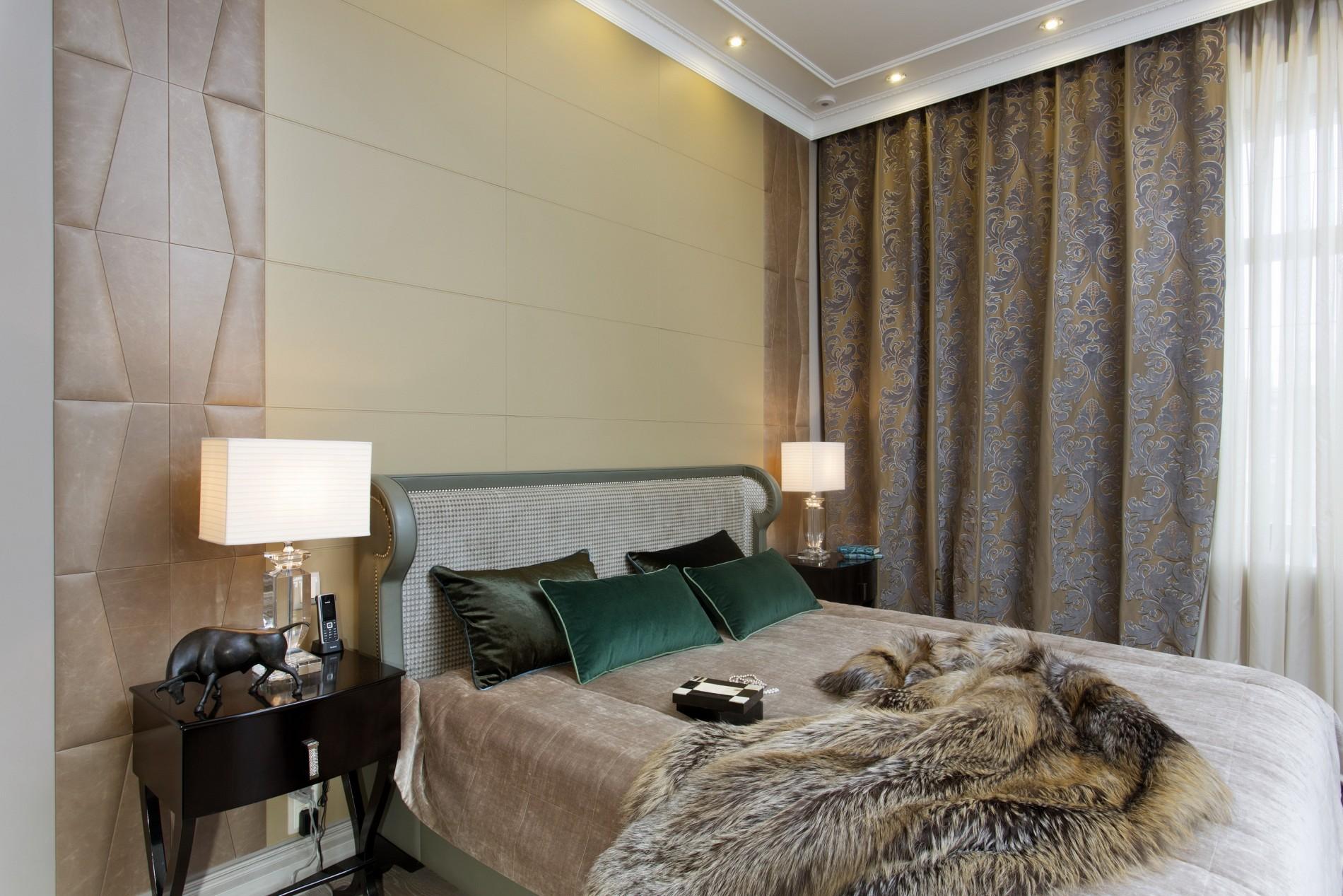 Спальня в коже в  доме