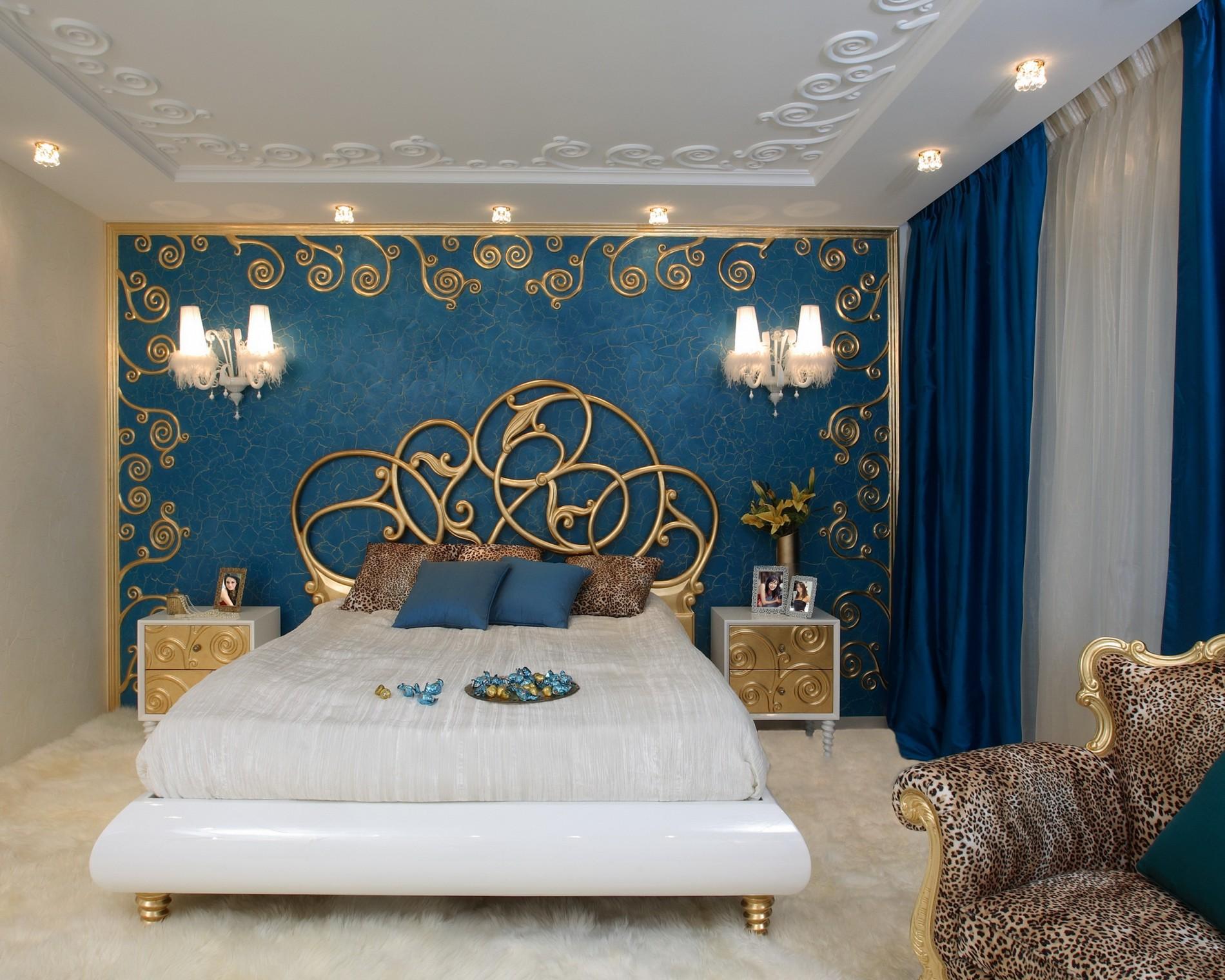 Стильный интерьер спальни Ар Деко