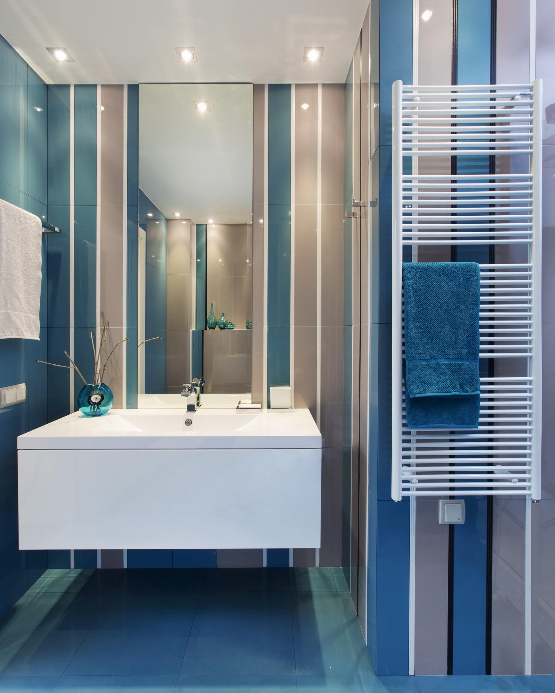 Голубая ванная дизайн под ключ