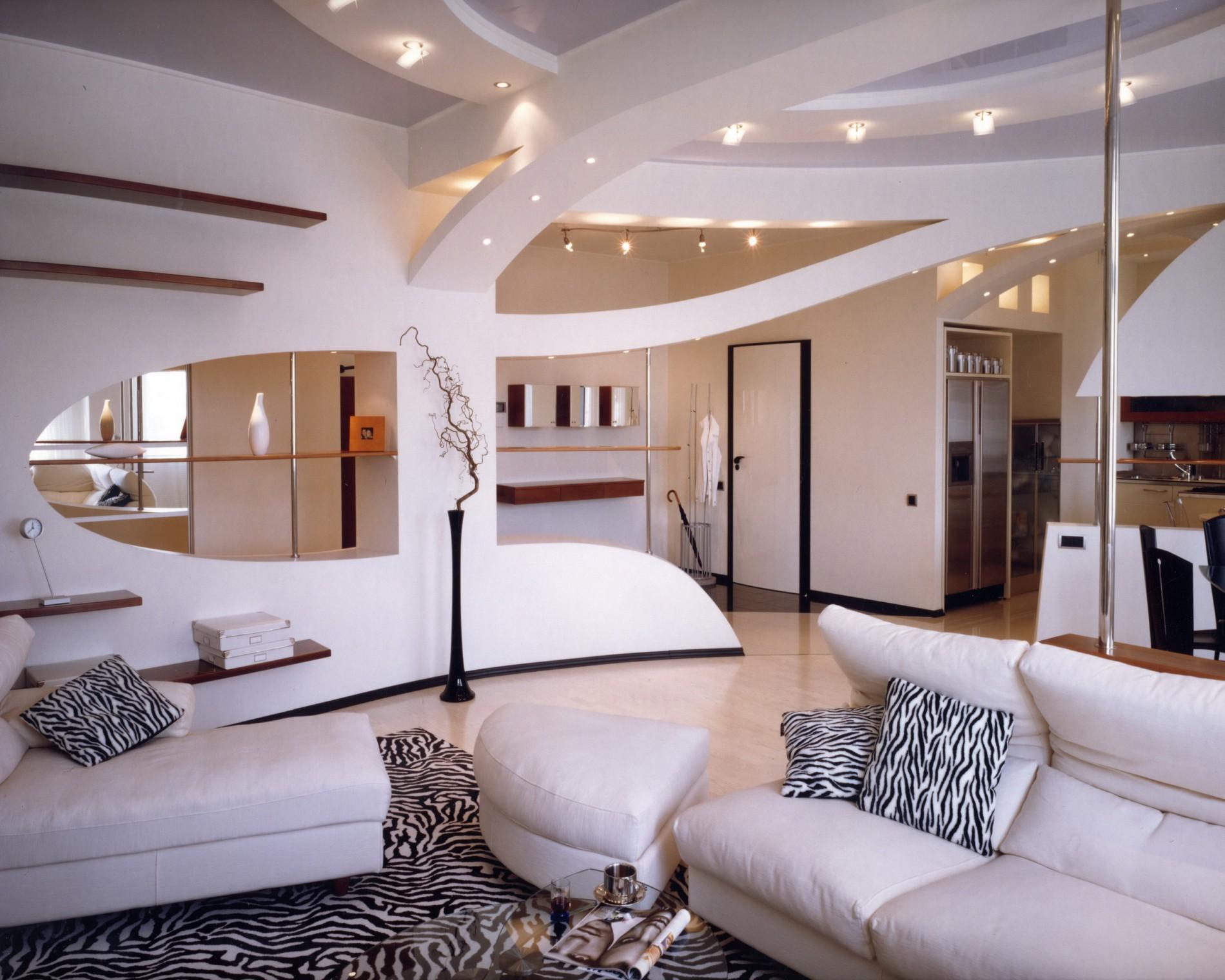 Современный стиль с дизайне гостиной