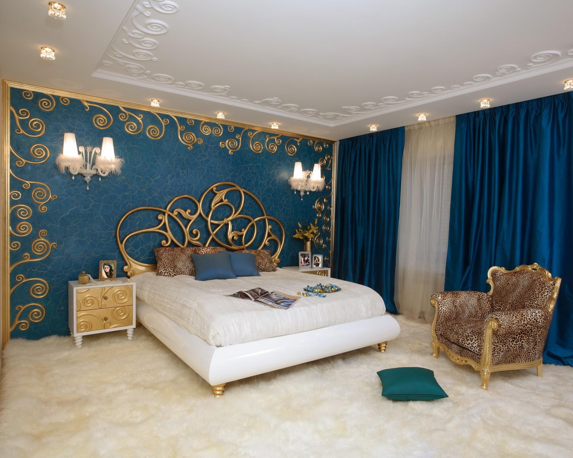Дизайн интерьера спальни Ар Деко
