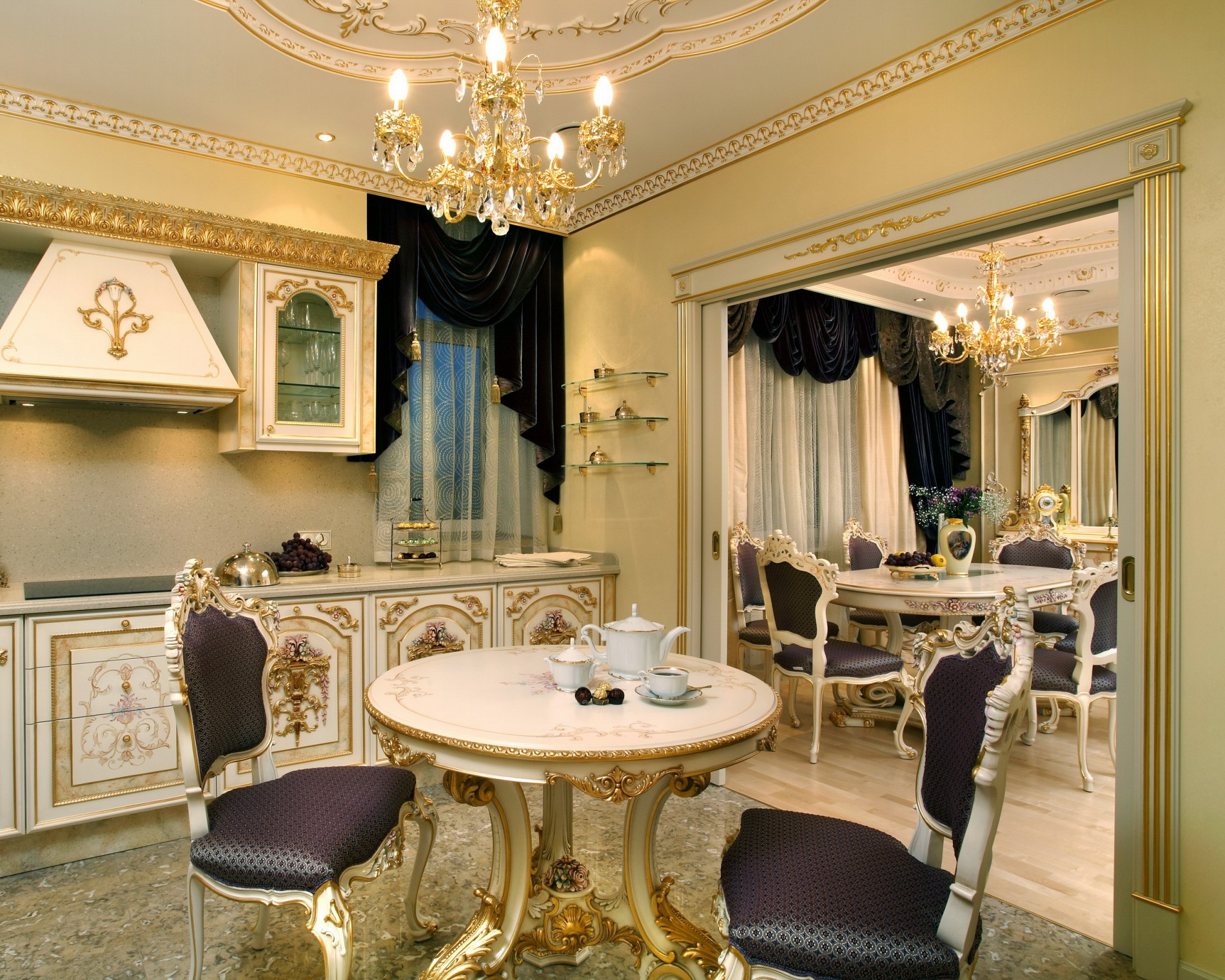 жк каскад интерьер квартиры в классическом стиле