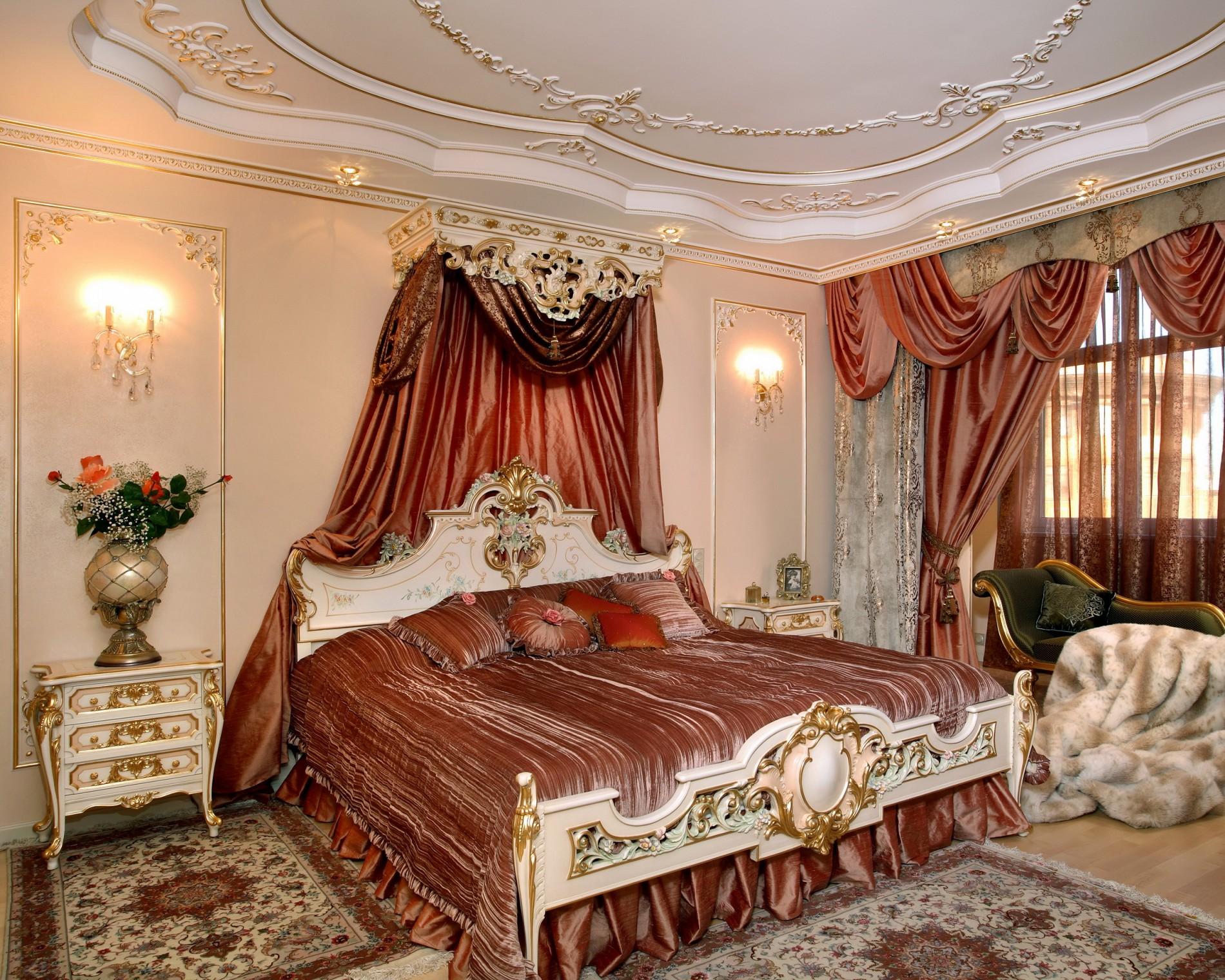 Классический интерьер  спальни