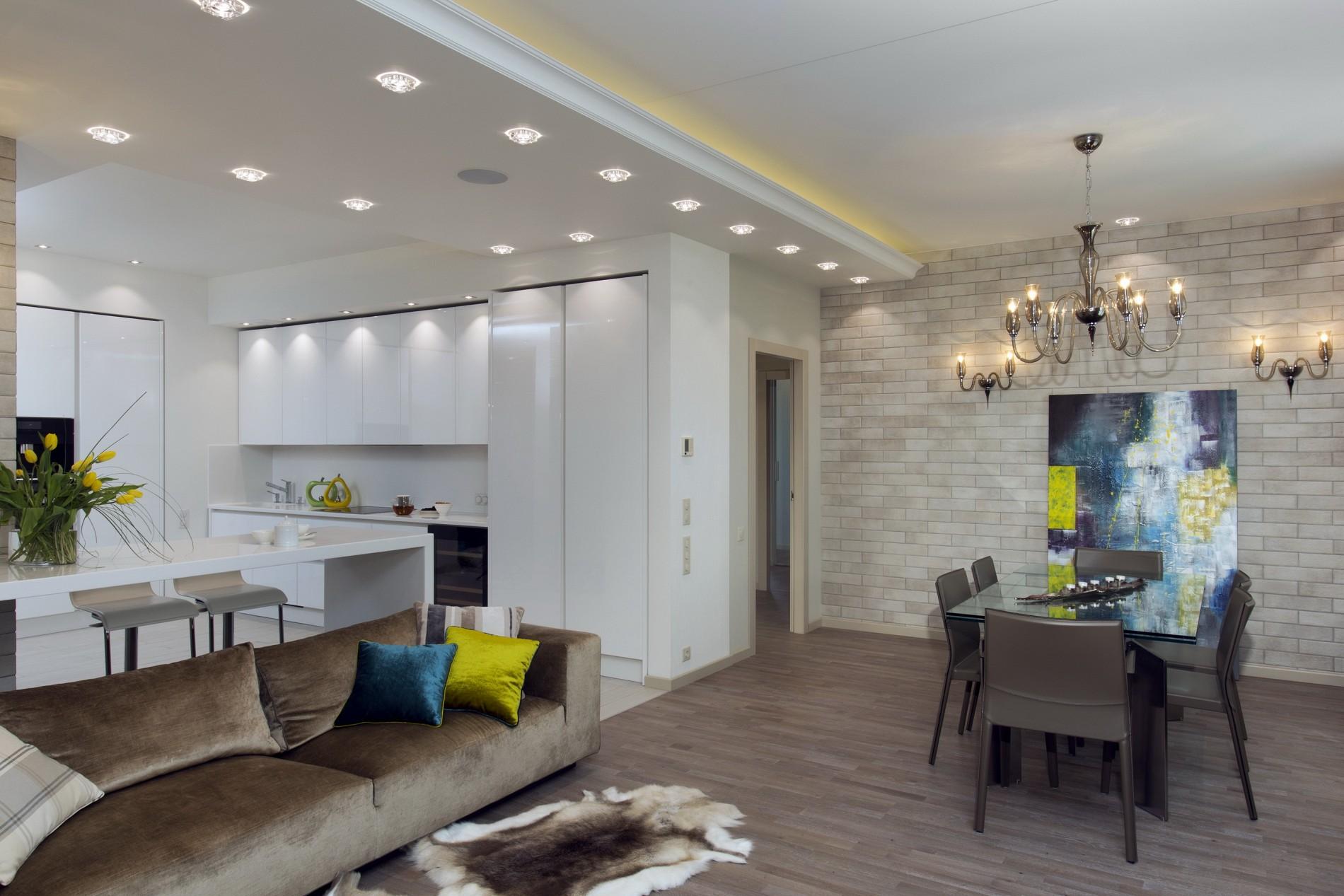 Стильная белая кухня в современном стиле