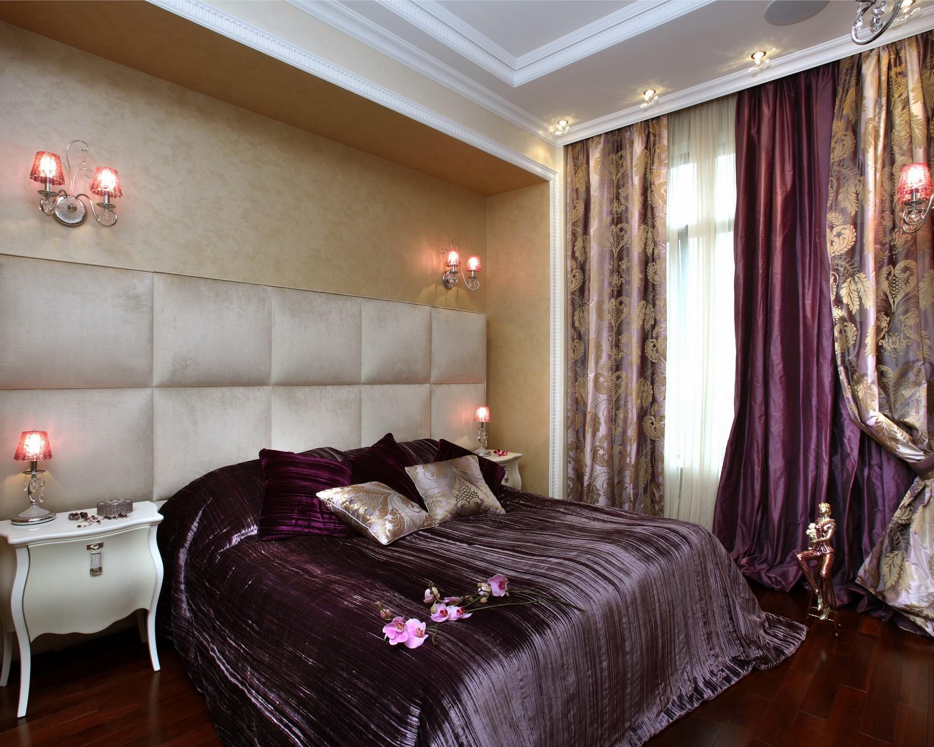 Роскошный ар деко в интерьере спальни