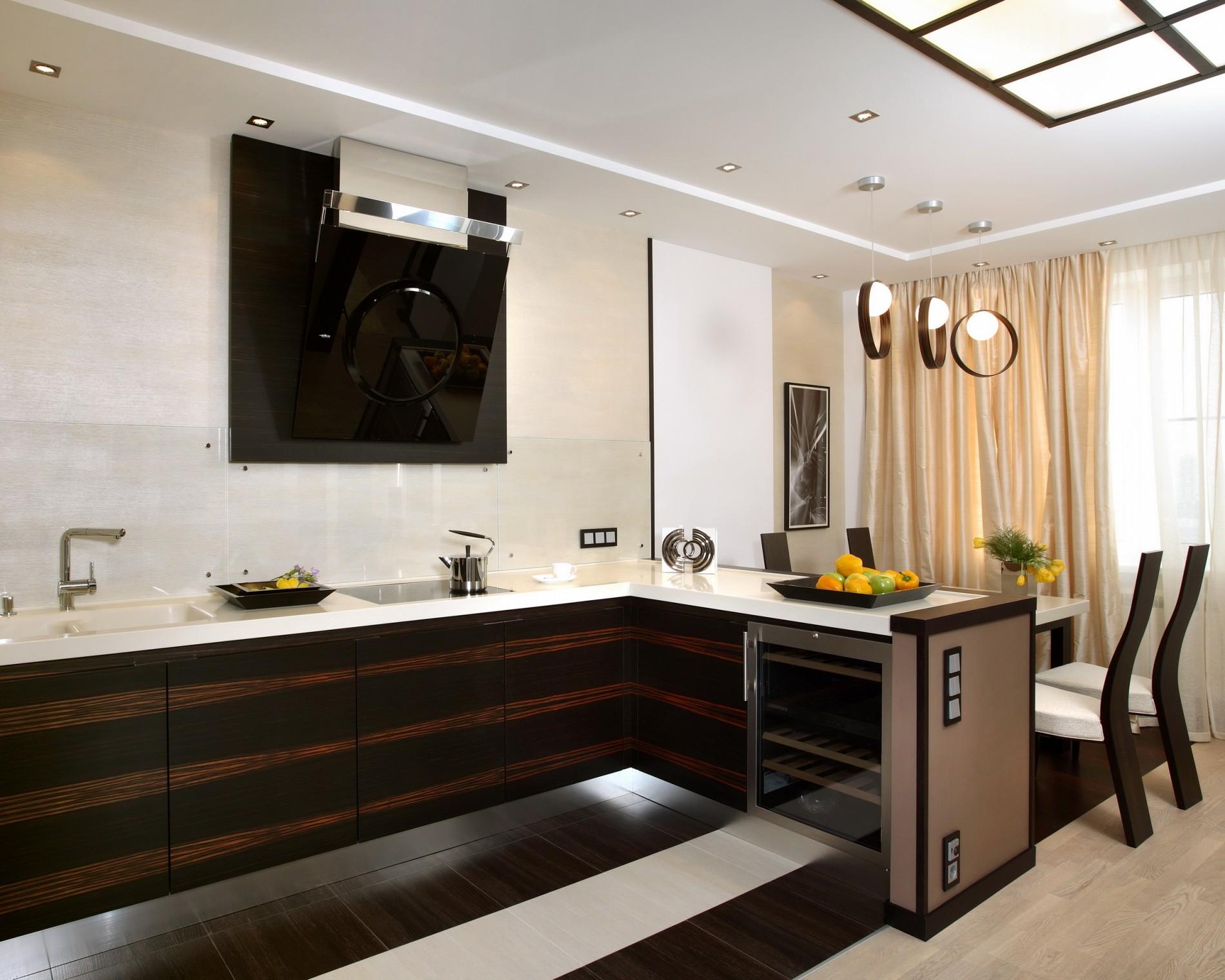 Фьюжн в интерьере кухни