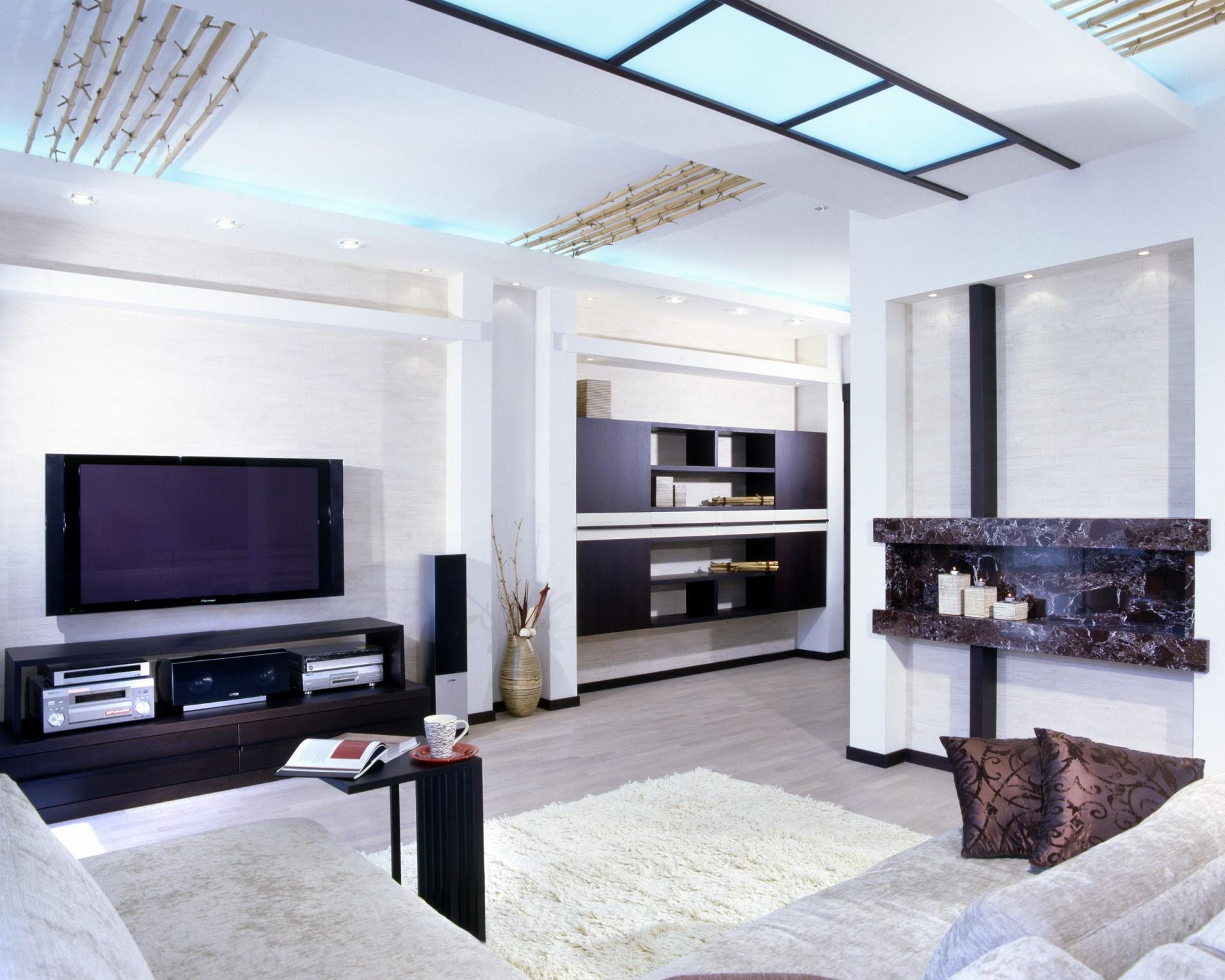Фото гостиной в стиле фьюжн
