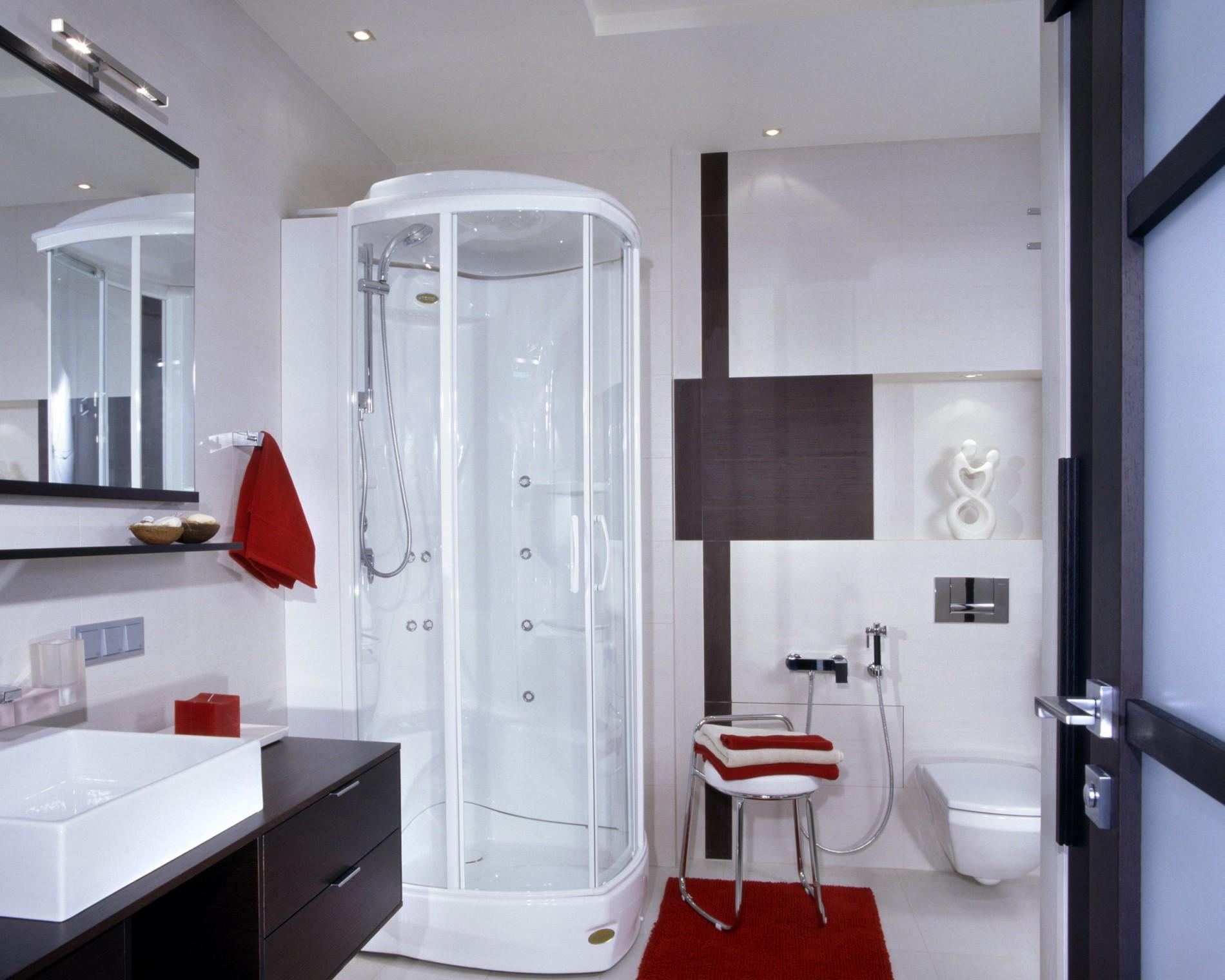 Реальный интерьер ванной под ключ