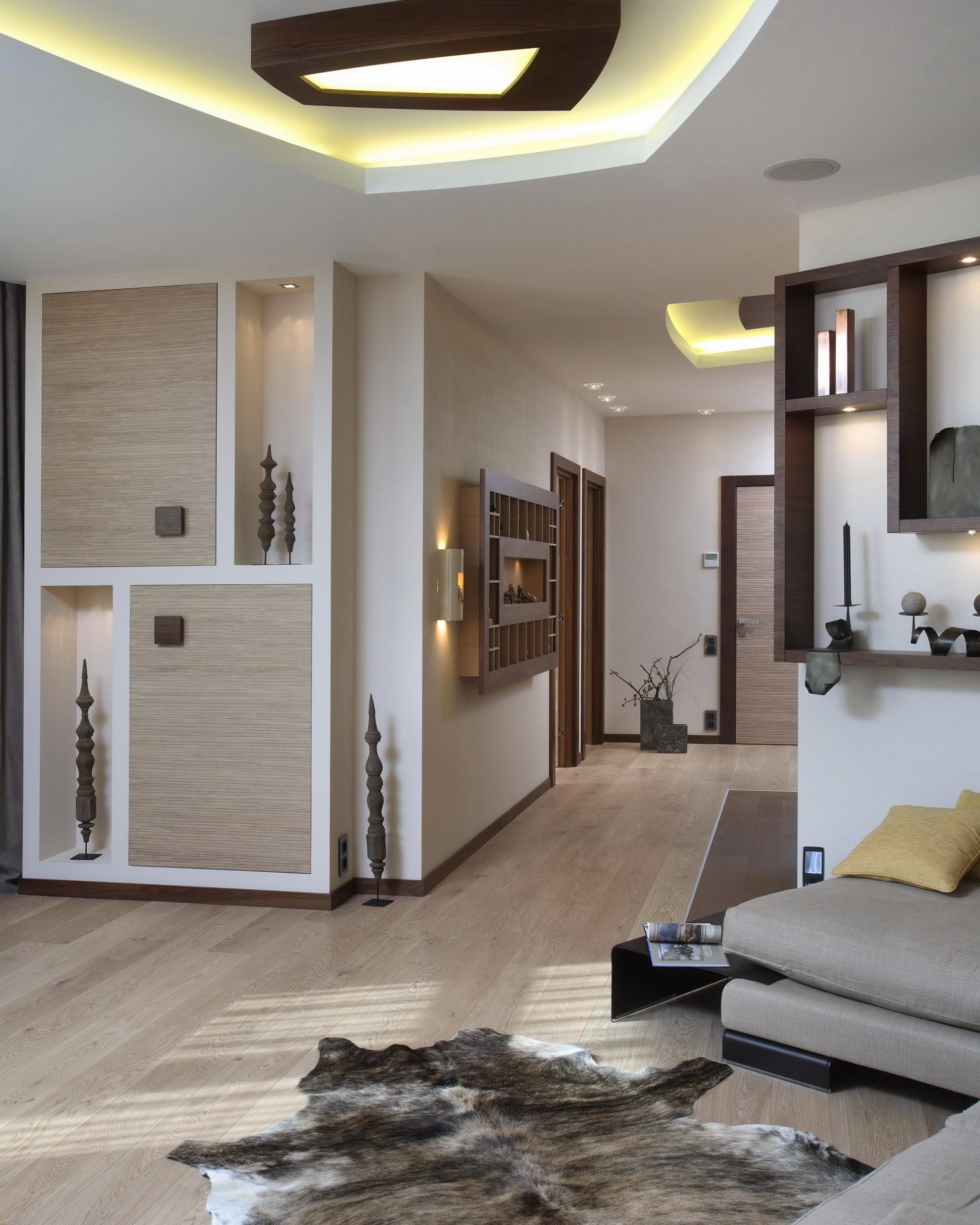Современны стиль в дизайне гостиной