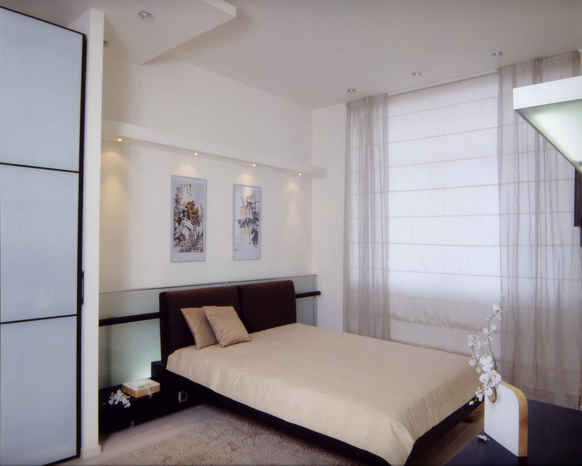 Спальня в минимализме от известного дизайнера