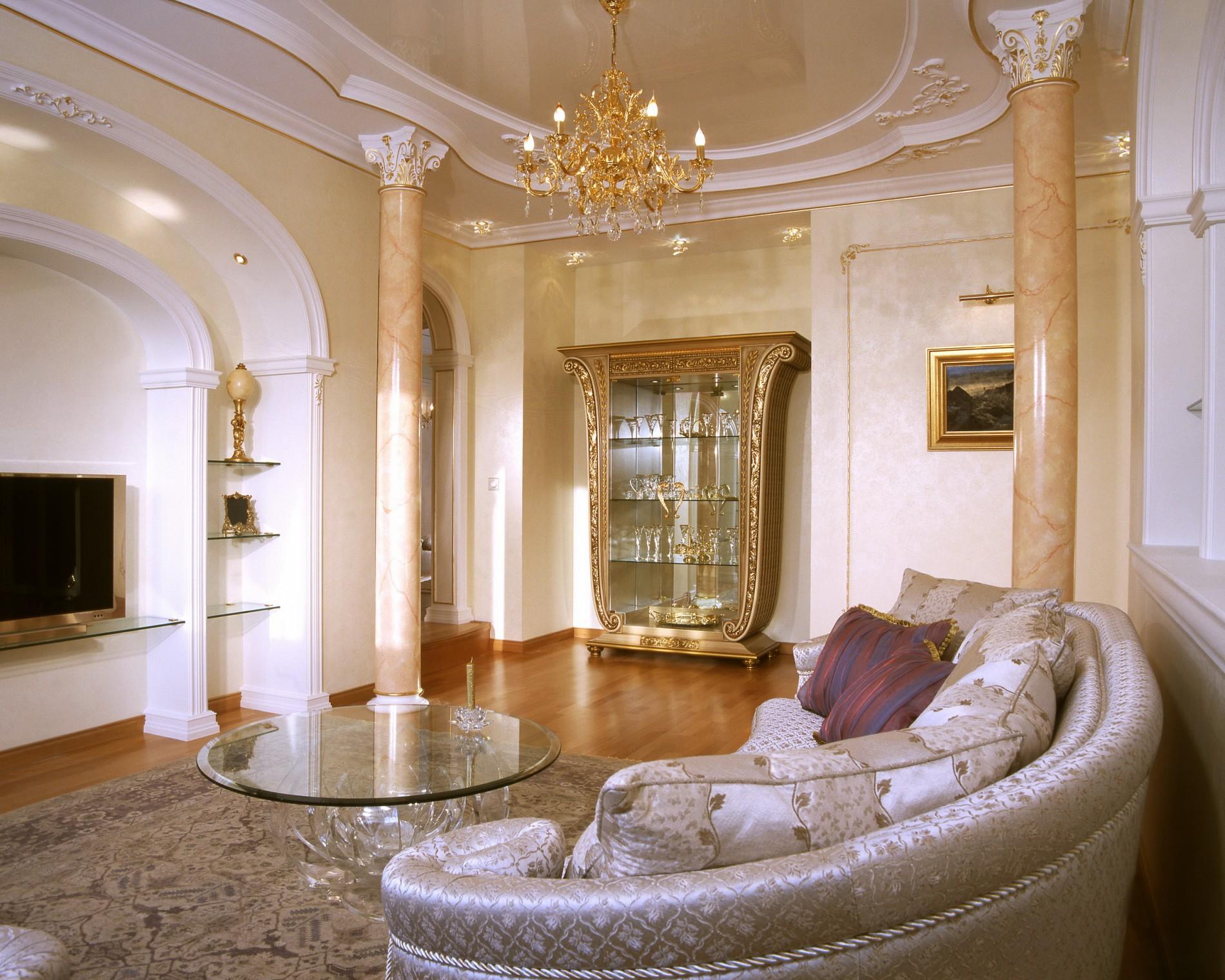 Дорогой интерьер квартиры в классическом стиле