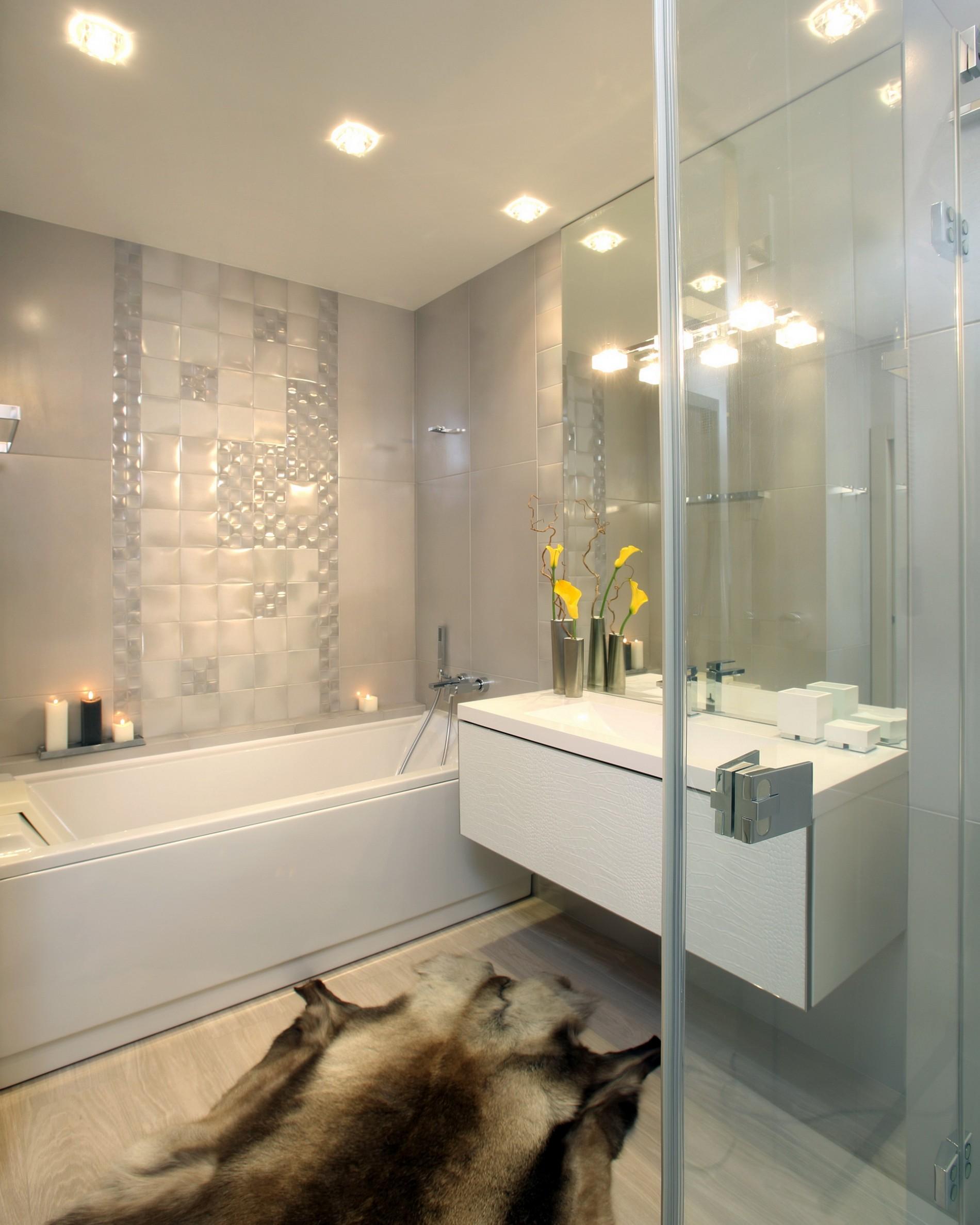 Стильная ванная в стиле минимализм
