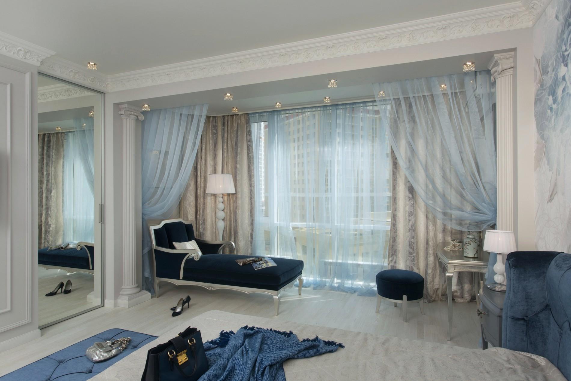 Классическая спальня с эркером