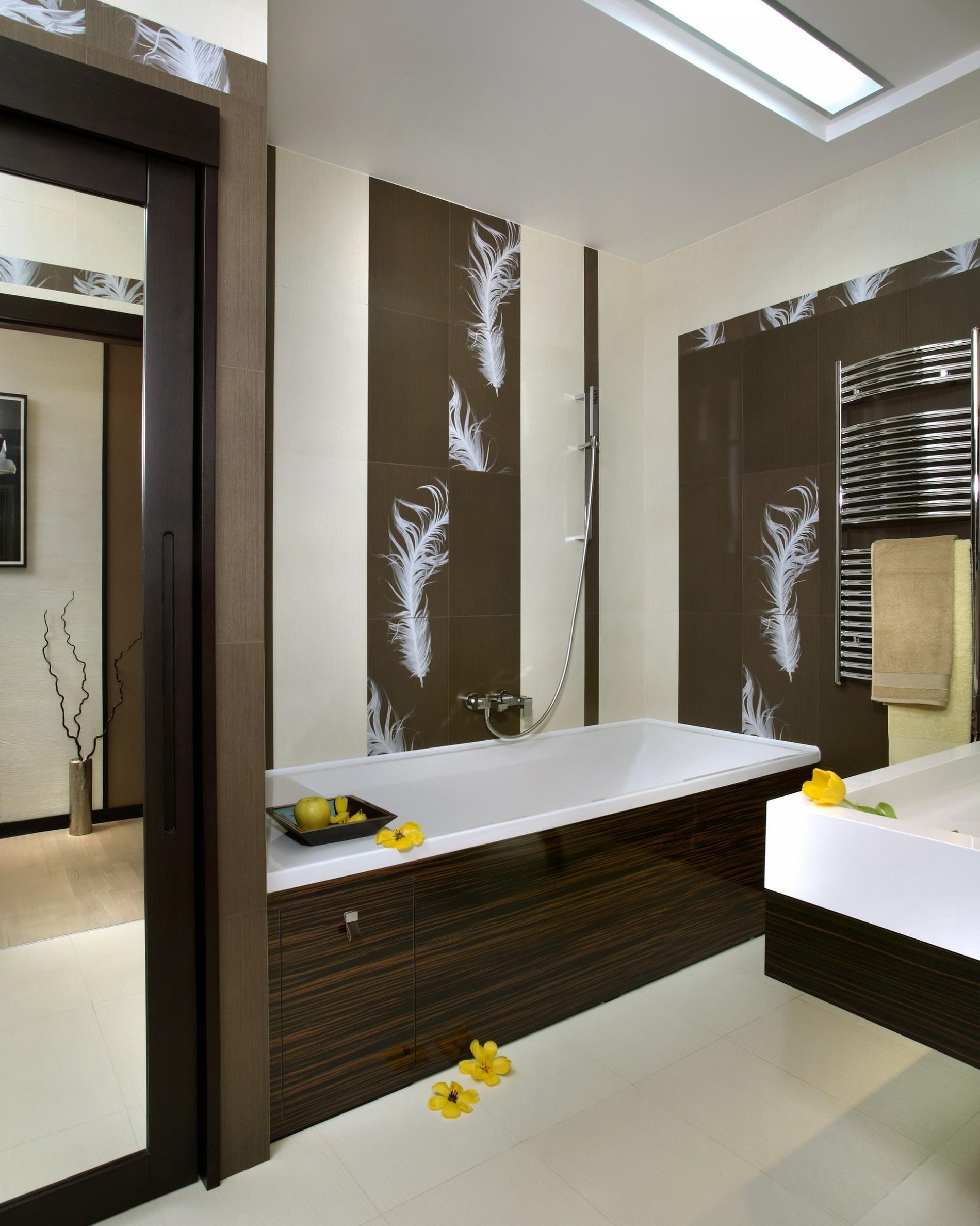 Элитный интерьер ванной в стиле фьюжн