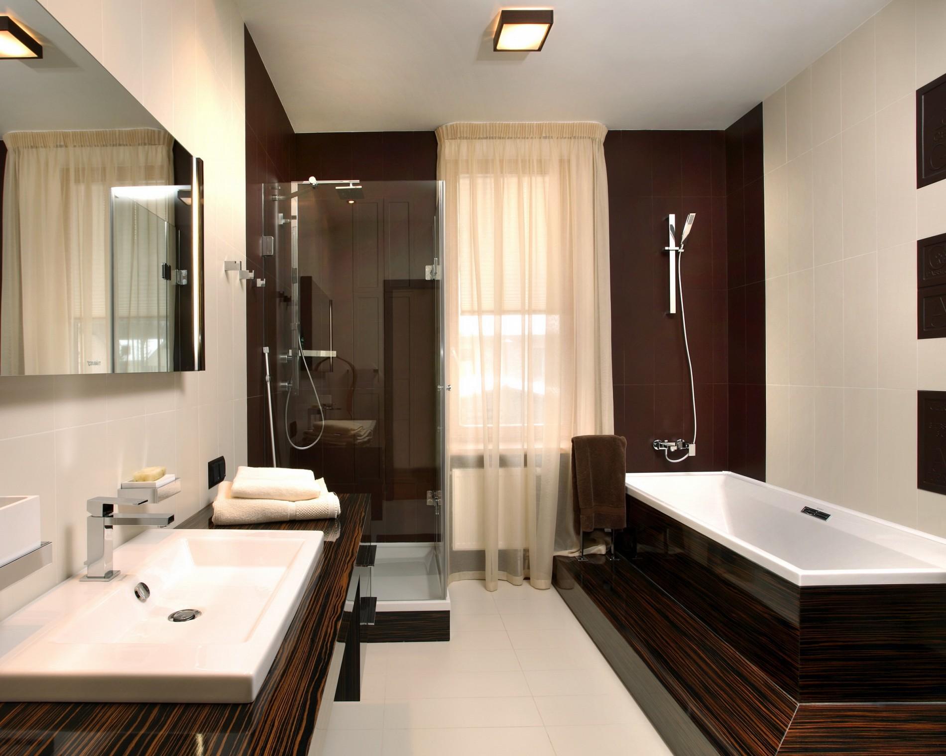 Модный дизайн ванной в стиле минимализм